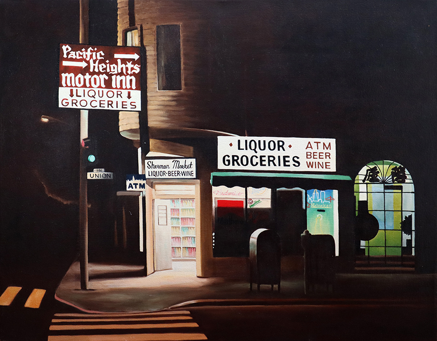 Sherman Market, 22 x 28 inches