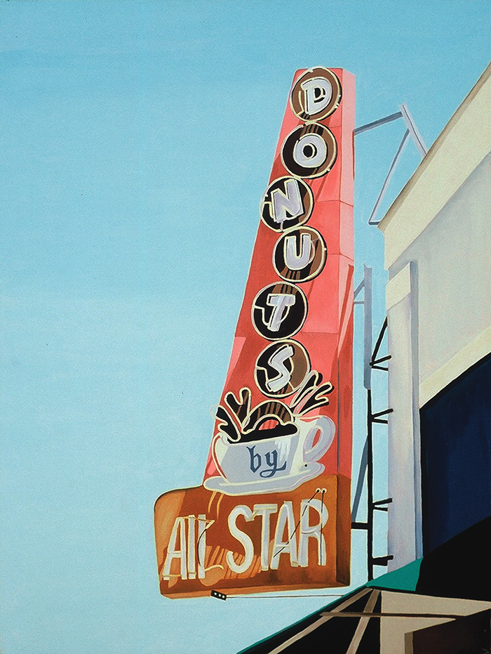 All Star Donuts, 2002, 24 x 18 inches
