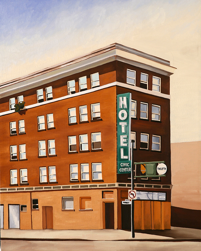 Civic Center Hotel, 2008, 20 x 16 inches