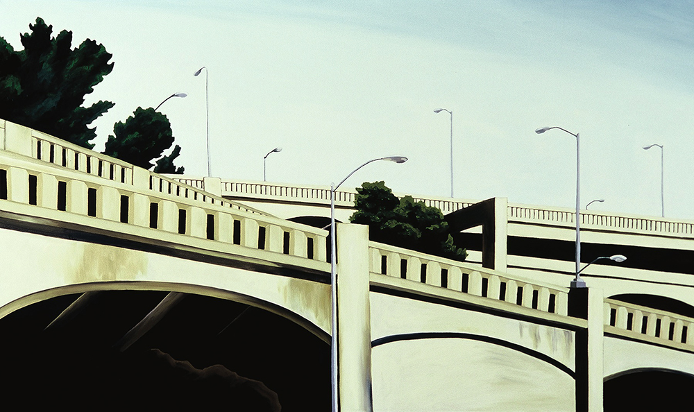 End of Delancy, 2001, 26 x 44 inches