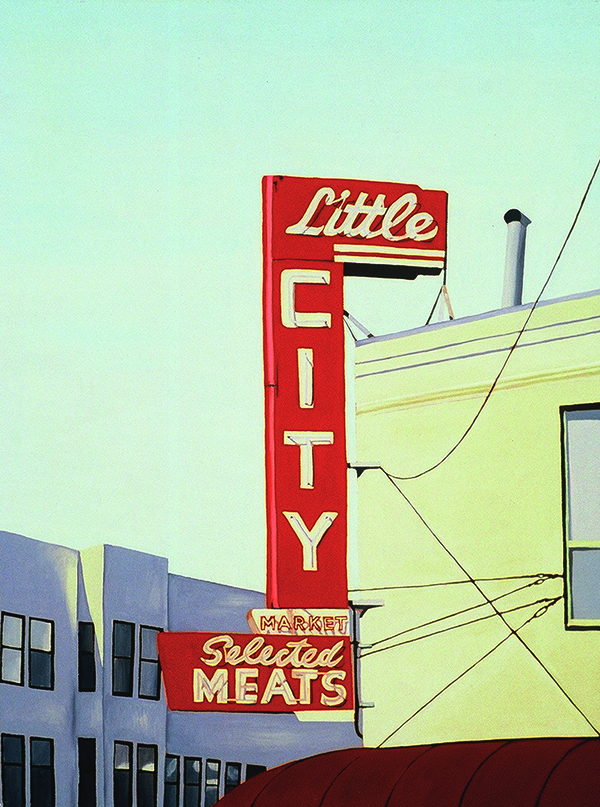 Little City, 2002, 24 x 18 inches