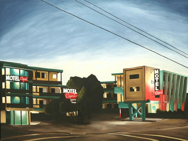 Motel Capri, 2009, 30 x 40 inches
