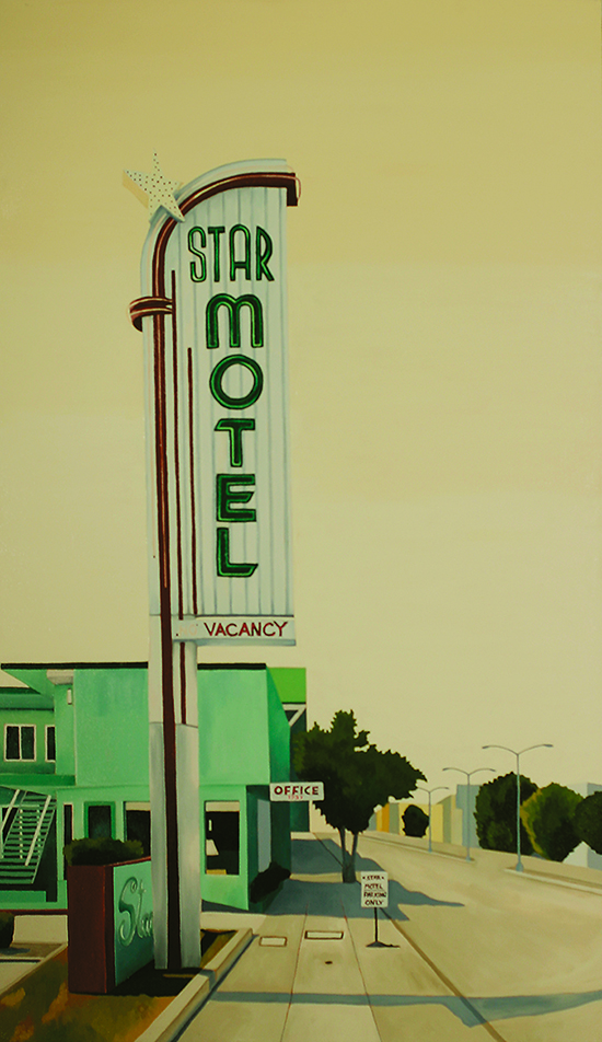 Star Motel, 2002, 44 x 26 inches